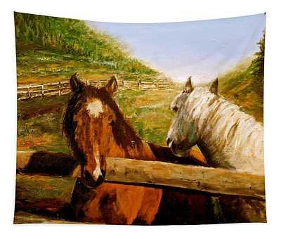 Alberta Horse Farm Tapestry