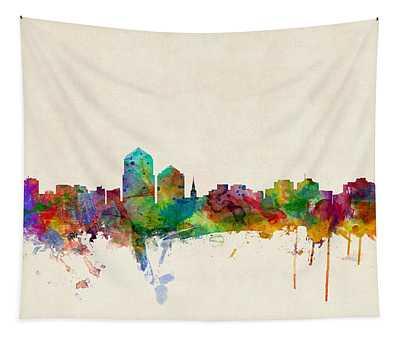 Albuquerque New Mexico Skyline Tapestry