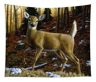 Whitetail Deer - Alerted Tapestry