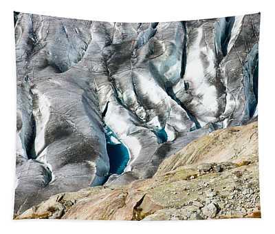 Aletsch Glacier Ice Crevice Switzerland Tapestry