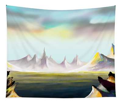 Alien Land Tapestry