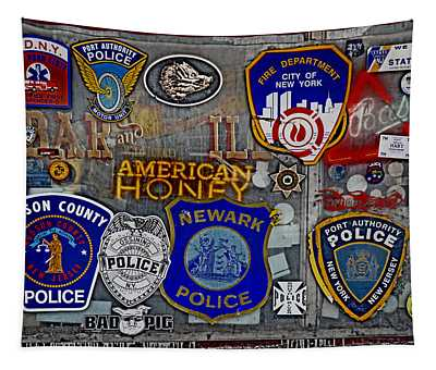 Tapestry featuring the photograph All American Bar by Gary Keesler