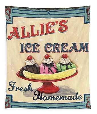 Allie's Ice Cream Tapestry