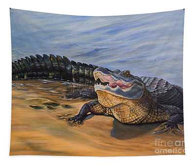 Alligator. Face To Face Tapestry