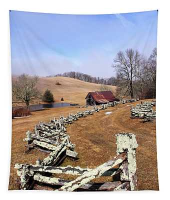Along The Locust Rails Tapestry