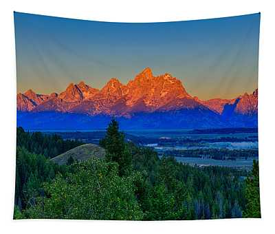 Alpenglow Across The Valley Tapestry