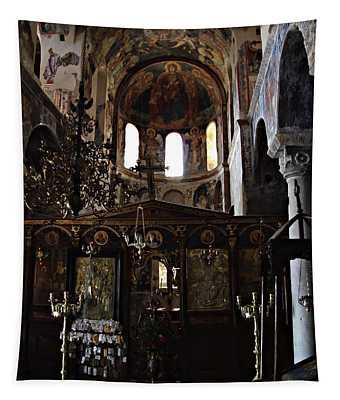 Altar At Mystras Tapestry