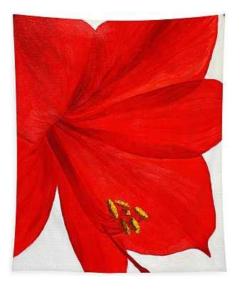 Amaryllis Flower Tapestry