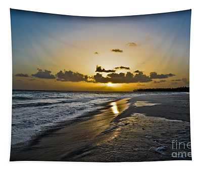 Tapestry featuring the photograph Amazing Hard Rock Sunrise by Gary Keesler