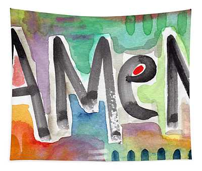 Amen- Colorful Word Art Painting Tapestry