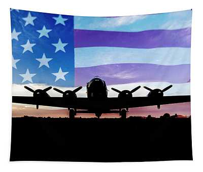 American B-17 Flying Fortress Tapestry