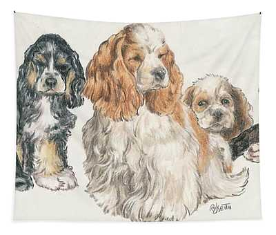 American Cocker Spaniel Puppies Tapestry