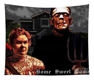 American Gothic Resurrection Home Sweet Home 20130715 Tapestry