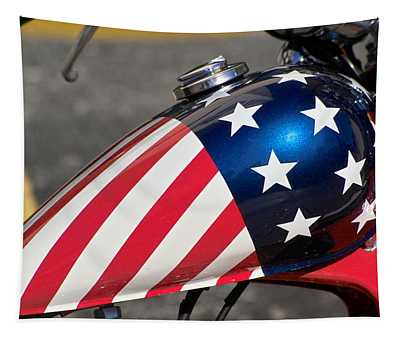 American Motorcycle Tapestry