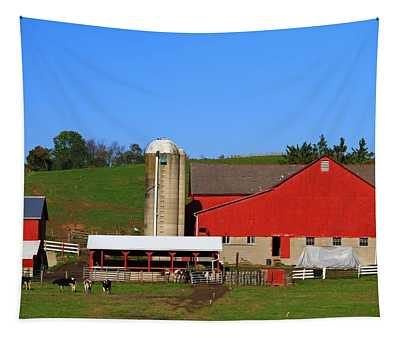 Amish Red Barn Tapestry
