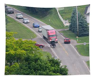 Amish Traffic Jam Tapestry