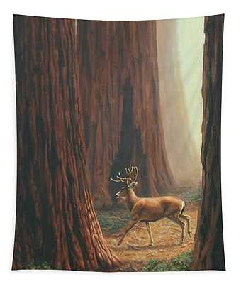 Sequoia Trees - Among The Giants Tapestry