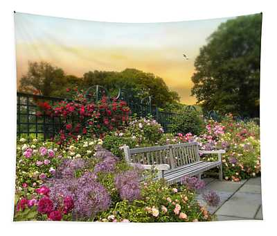 Among The Roses Tapestry