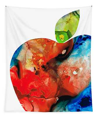 An Apple A Day - Colorful Fruit Art By Sharon Cummings  Tapestry