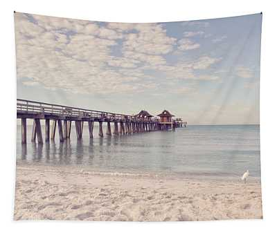 An Early Morning - Naples Pier Tapestry