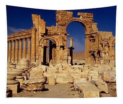 Ancient Roman City Of Palmyra, Syria Photo Tapestry