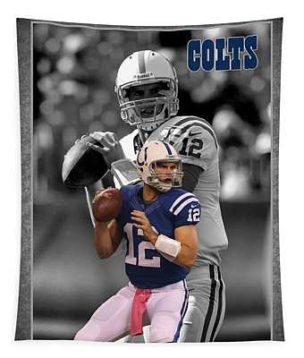 Andrew Luck Colts Tapestry
