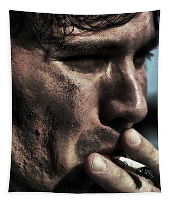 Study Of A Male Smoking A Cigarette  Tapestry