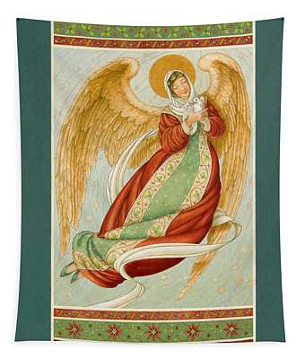 Angel In Green Slippers Tapestry