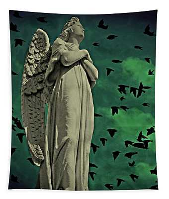 Angel Of Stone Tapestry