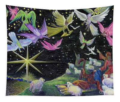 Angel Skies Tapestry
