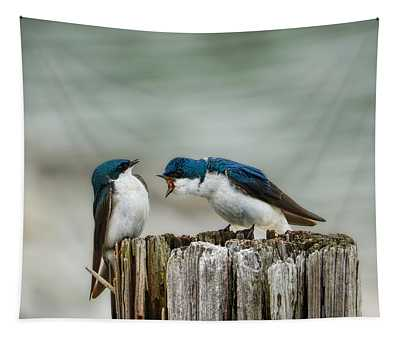 Angry Swallow Tapestry