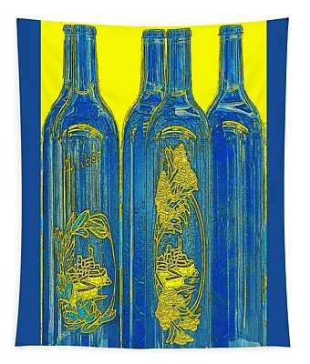 Antibes Blue Bottles Tapestry
