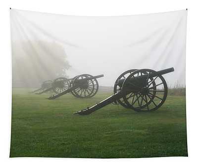 Antietam Battlefield In Morning Fog Tapestry