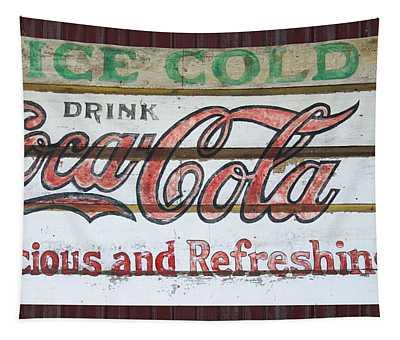 Antique Coca Cola Sign  Tapestry