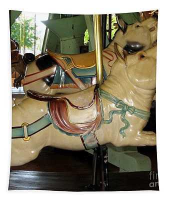 Antique Dentzel Menagerie Carousel Pigs Tapestry