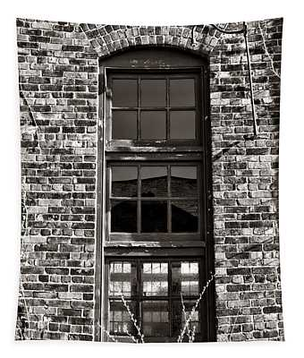 Antique Factory Window Tapestry