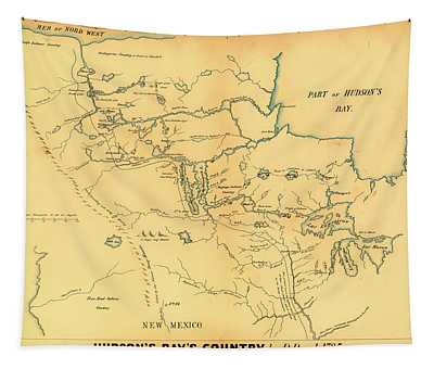 Antique Map Of Hudson Bay Country 1785 Tapestry
