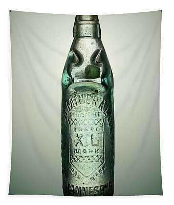 Antique Mineral Glass Bottle Tapestry