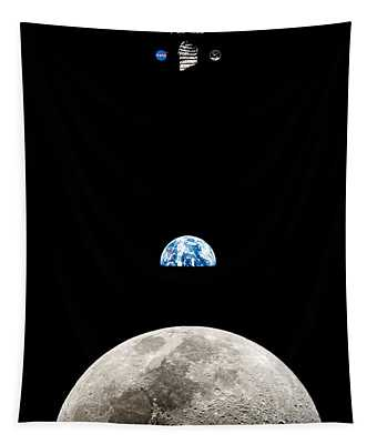 Apollo 11 First Man On The Moon Tapestry