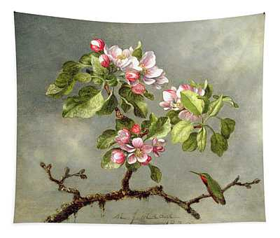 Apple Blossoms And A Hummingbird Tapestry