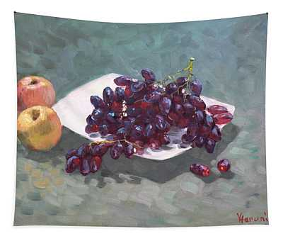 Apples And Grapes Tapestry