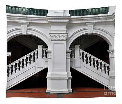 Arch Staircase Balustrade And Columns Tapestry