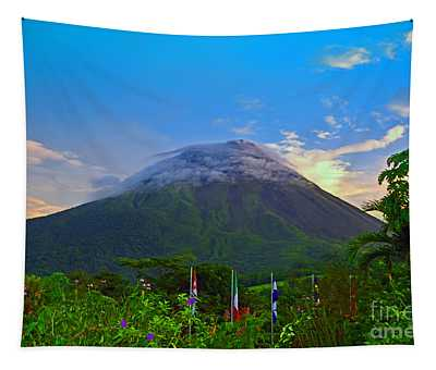 Tapestry featuring the photograph Arenal Volcano Costa Rica by Gary Keesler