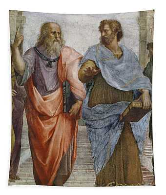 Aristotle And Plato Detail Of School Of Athens Tapestry