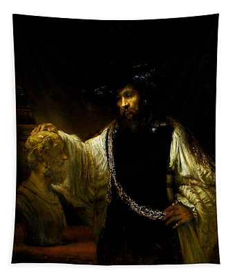 Aristotle Contemplating A Bust Of Homer Tapestry