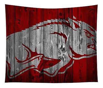 Arkansas Razorbacks Barn Door Tapestry
