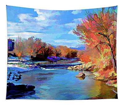 Arkansas River In Salida Co Tapestry
