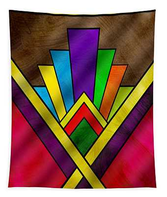 Art Deco Pattern 7v Tapestry