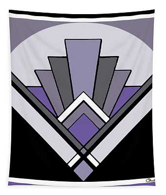 Art Deco Pattern Two - Purple Tapestry
