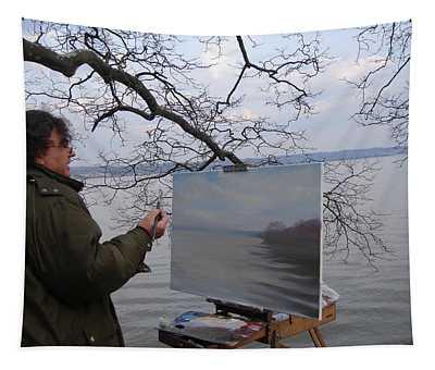 Artist At Work Nyack Park Ny Tapestry